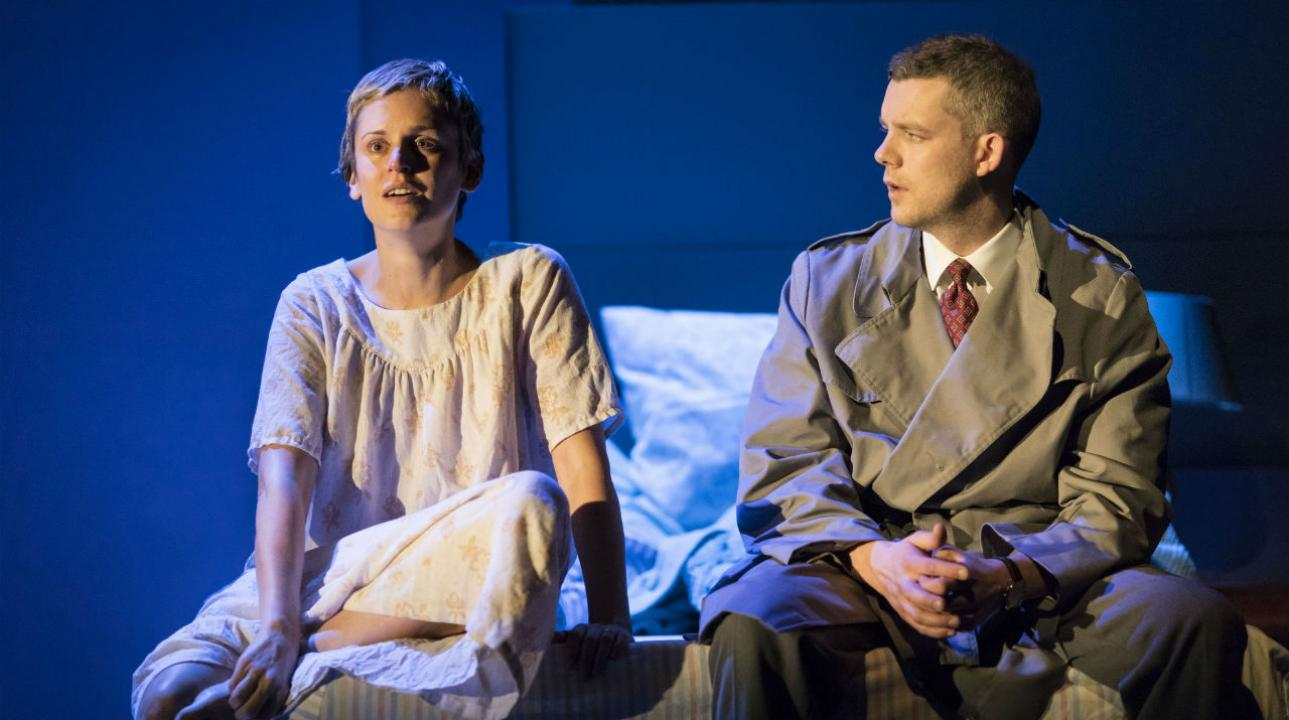 Denise Gough (Harper) and Russell Tovey (Joseph) in Angels In America - Millennium Approaches