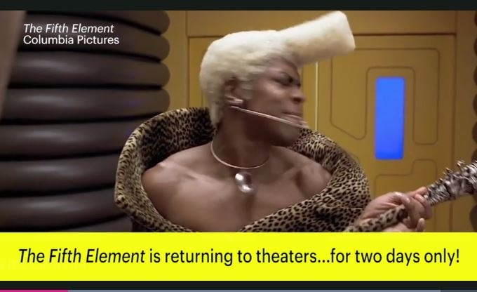 The Fifth Element heading back to theaters with Valerian preview