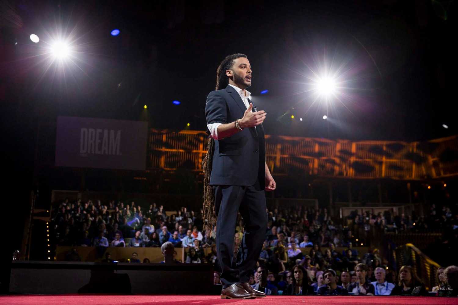 Adam Foss speaks at TED2016 - Dream, February 15-19, 2016, Vancouver Convention Center, Vancouver, Canada. Photo: Bret Hartman / TED