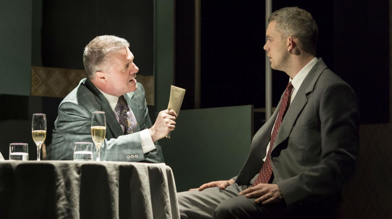 Nathan Lane (Roy M Cohn) and Russell Tovey (Joseph Pitt) in Angels In America - Millennium Approaches