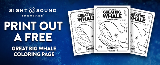 BIG WHALE COLORING PAGE