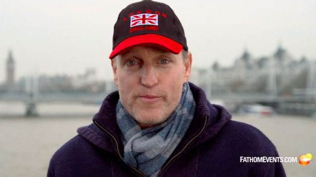 Join us for a chat with Woody Harrelson about his live film 'Lost in London'