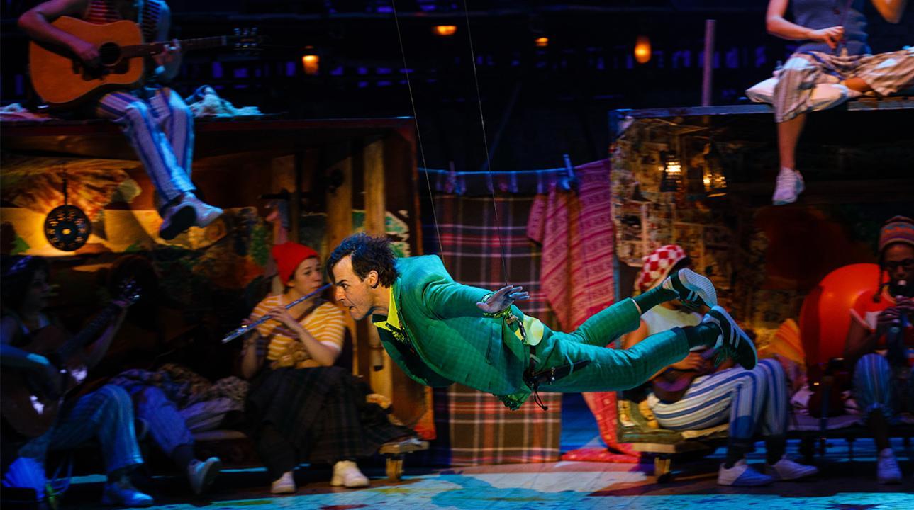 Paul Hilton as Peter in Peter Pan. Photo by Steve Tanner