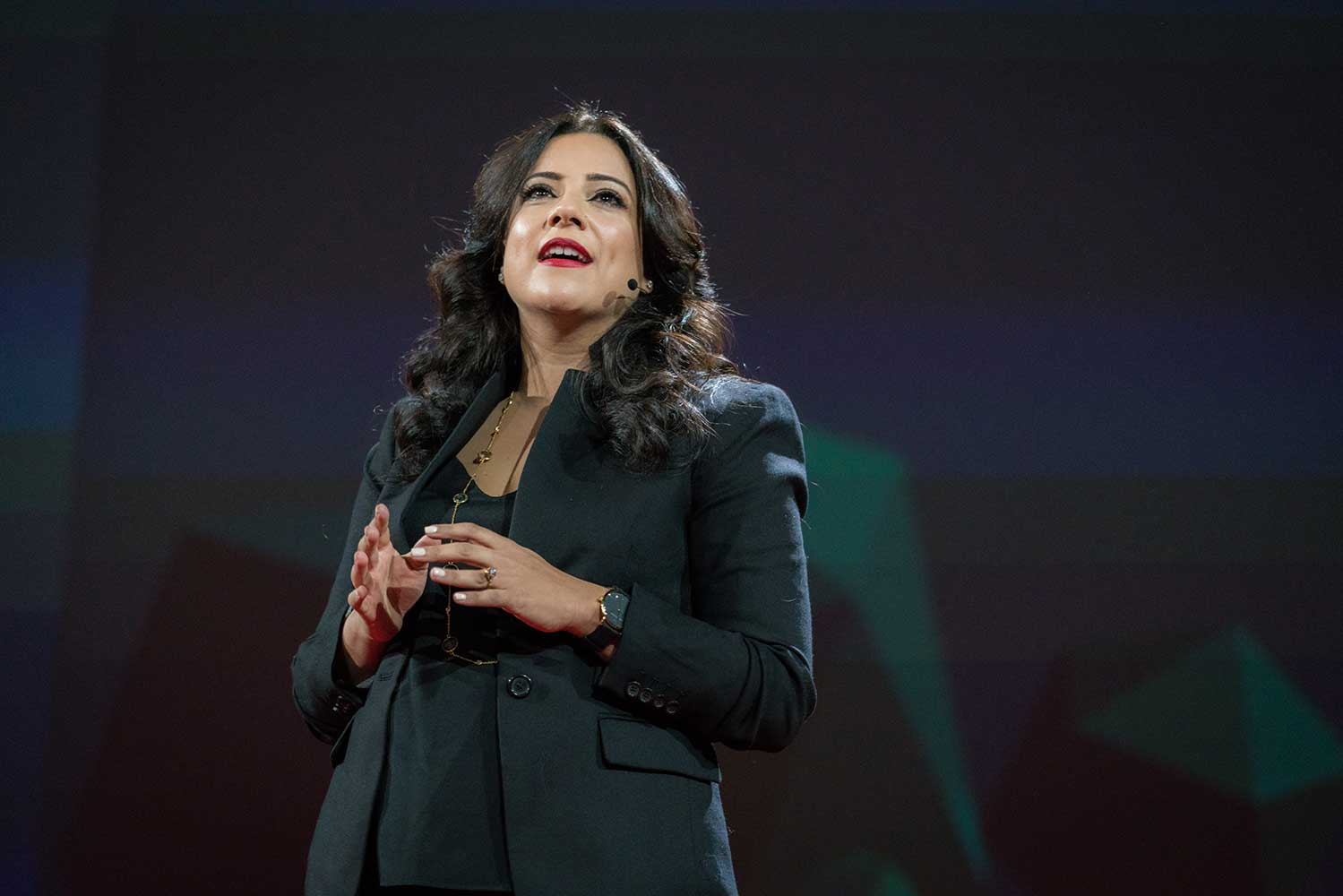 Reshma Saujani speaks at TED2016 - Dream, Session 6 - Code Power, February 15-19, 2016, Vancouver Convention Center, Vancouver, Canada. Photo: Bret Hartman / TED