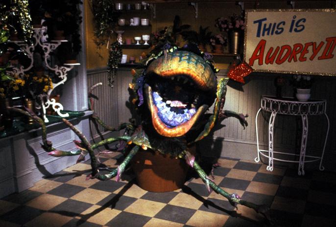 Audrey II (Levi Stubbs) in Little Shop of Horrors