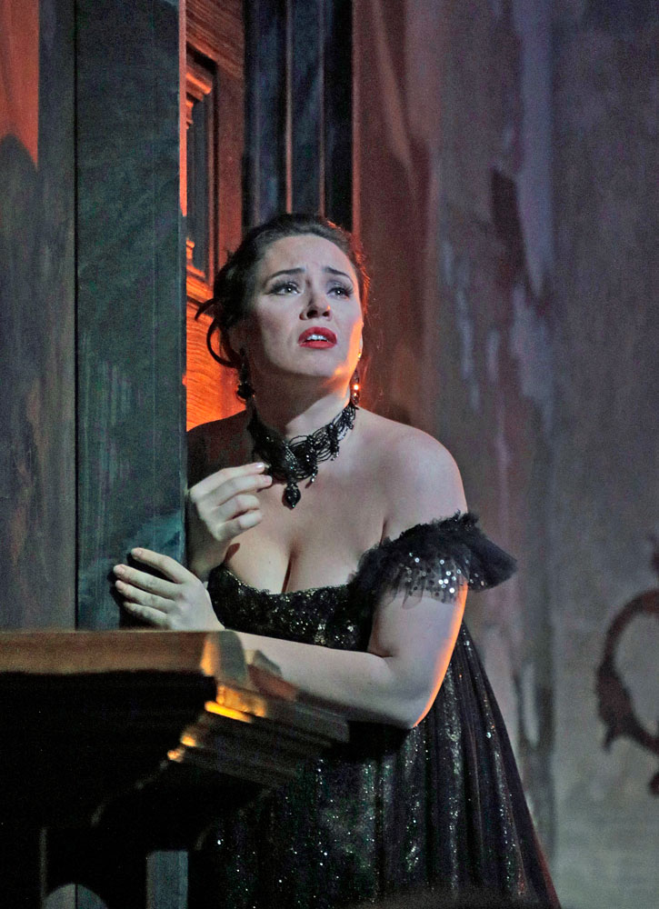 Sonya Yoncheva as Tosca. Photo: Ken Howard/Metropolitan Opera.