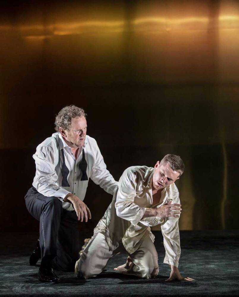 Colm Meaney (Big Daddy) and Jack O'Connell (Brick) in Cat on a Hot Tin Roof.
