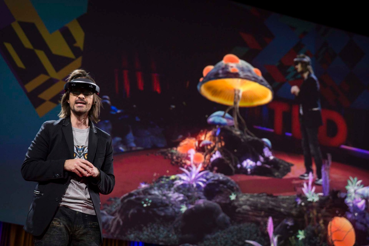 Alex Kipman speaks at TED2016 - Dream, February 15-19, 2016, Vancouver Convention Center, Vancouver, Canada. Photo: Bret Hartman / TED