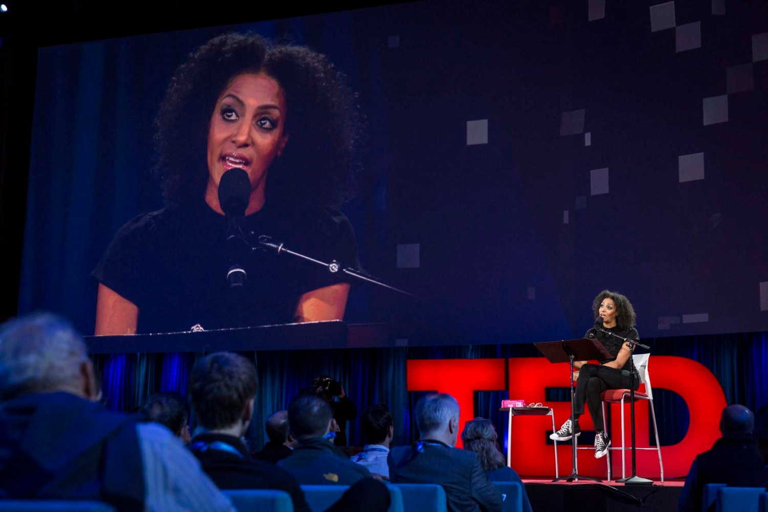 Sarah Jones speaks at TED2015 - Truth and Dare, Session 9, March 16-20, 2015, Vancouver Convention Center, Vancouver, Canada. Photo: Bret Hartman/TED