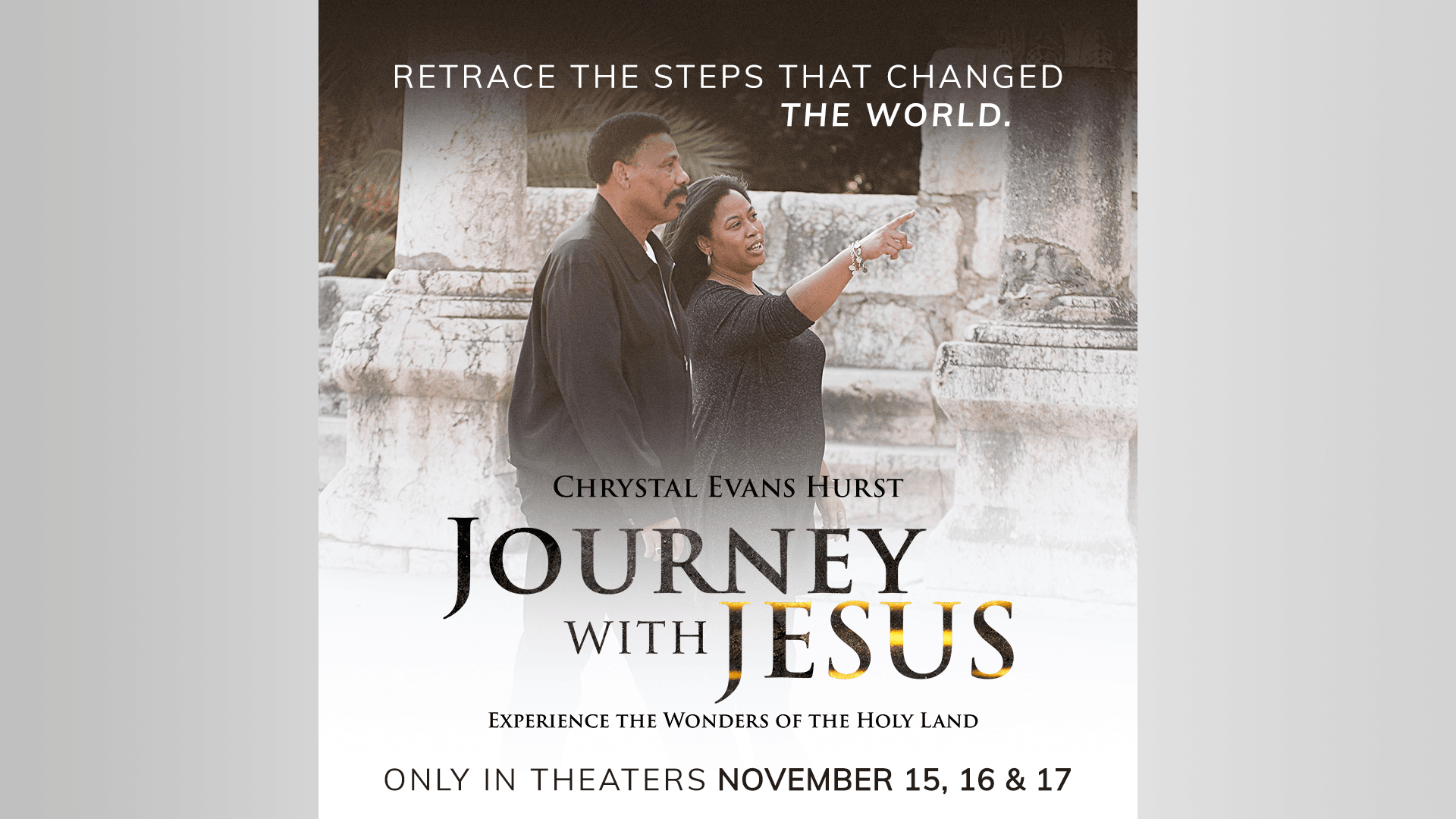 First Look: Tony Evans and Daughters Explore Holy Land in New Fathom Movie Event
