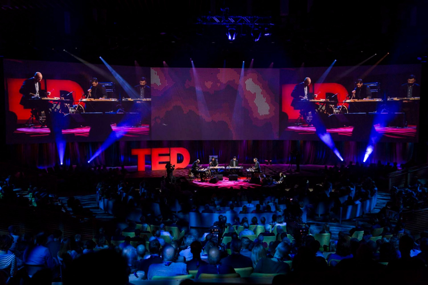 So Percussion performs at TED2016 - Dream, February 15-19, 2016, Vancouver Convention Center, Vancouver, Canada. Photo: Marla Aufmuth / TED