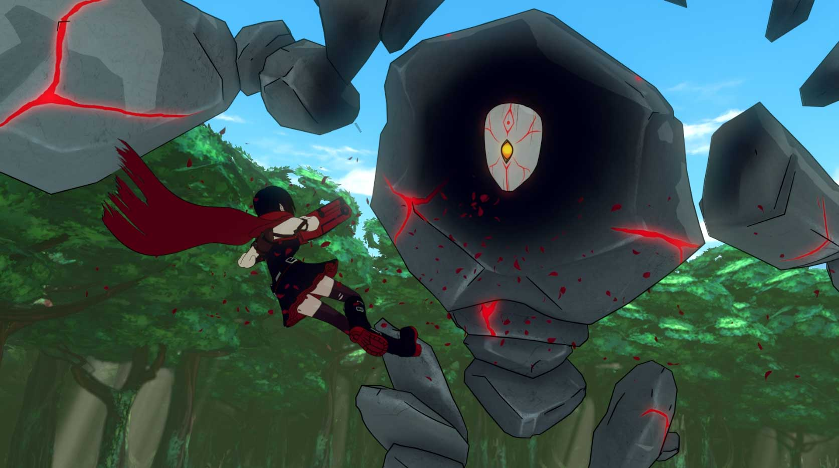 Ruby vs. Geist.  RWBY Volume 5 Premiere. Photo credit: Rooster Teeth for RWBY