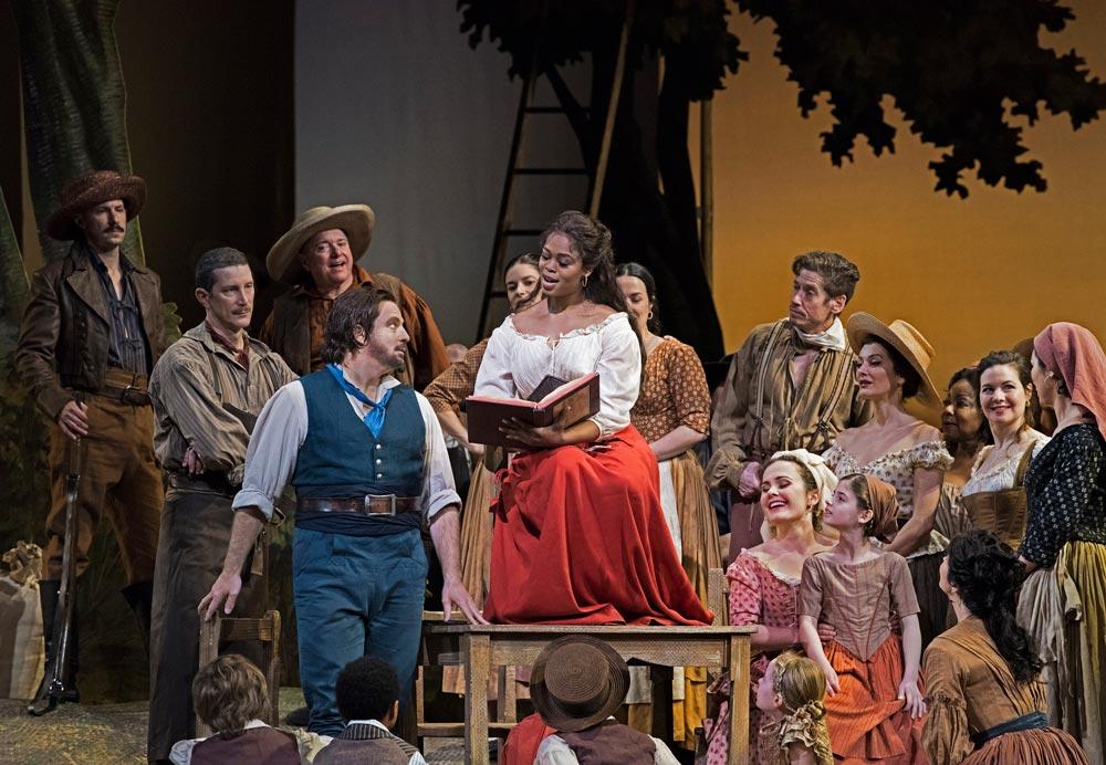 Matthew Polenzani as Nemorino and Pretty Yende as Adina in Donizetti's L'Elisir d'Amore