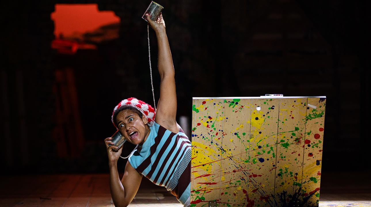 Amaka Okafor as Nibs in Peter Pan. Photo by Steve Tanner