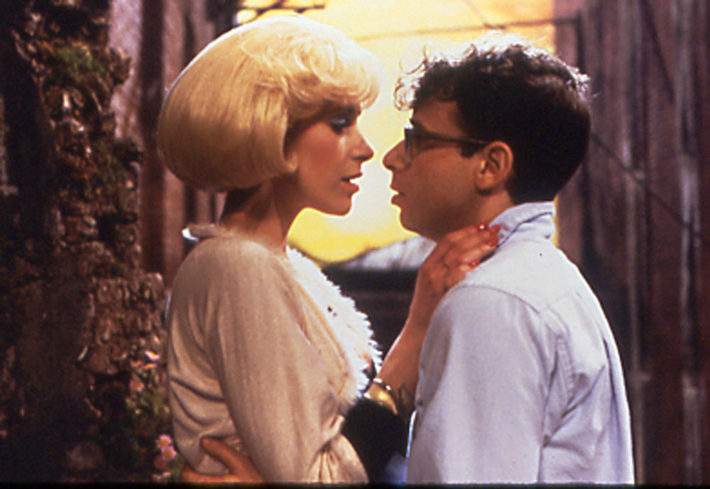 Audrey (Ellen Greene) and Seymour (Rick Moranis) in Little Shop of Horrors