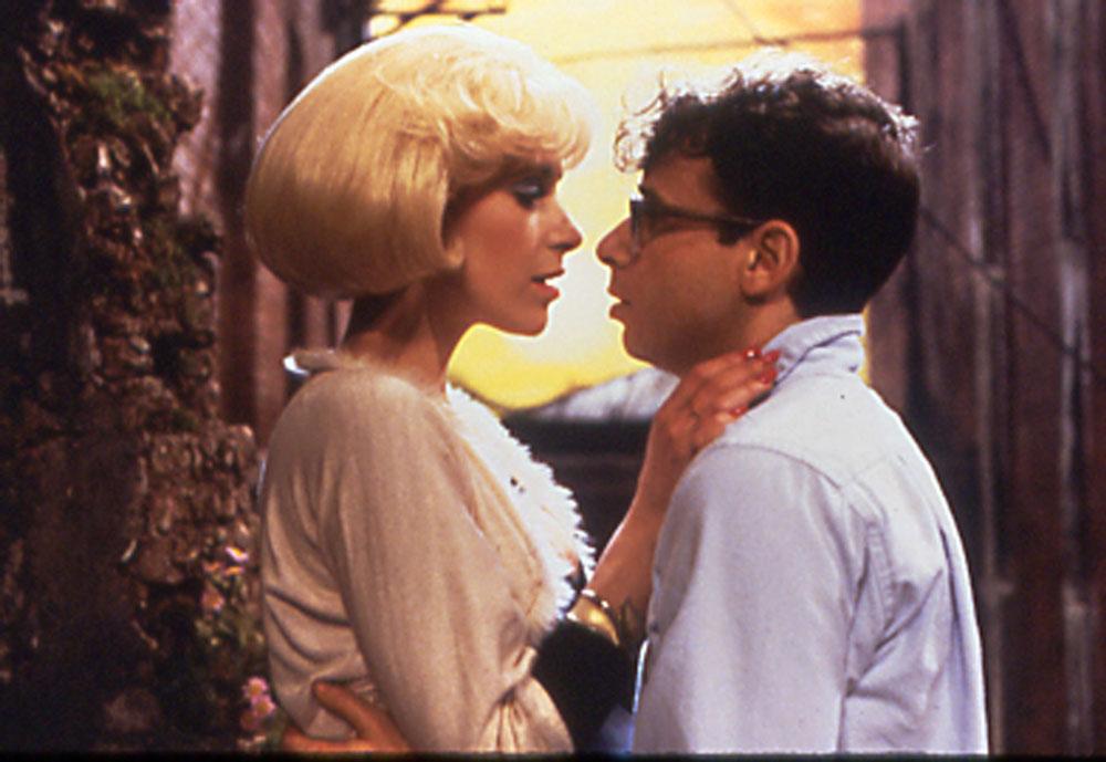 Audrey (Ellen Greene) and Seymour (Rick Moranis) in Little Shop of Horrors