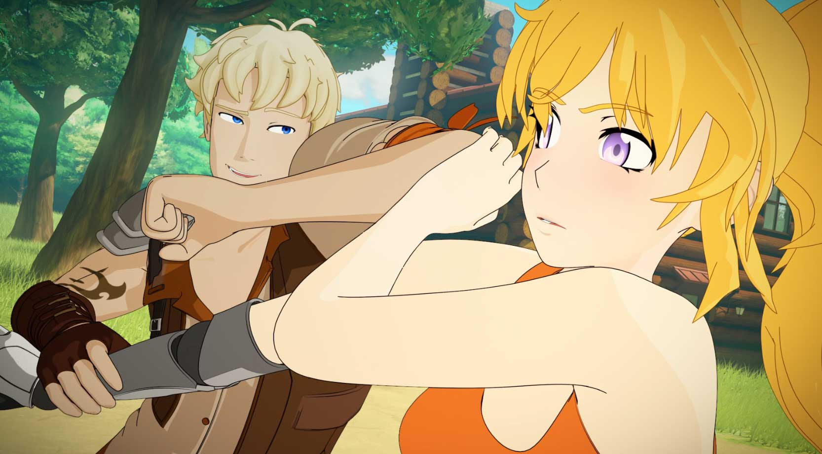 Yang and Taiyan.  RWBY Volume 5 Premiere. Photo credit: Rooster Teeth for RWBY