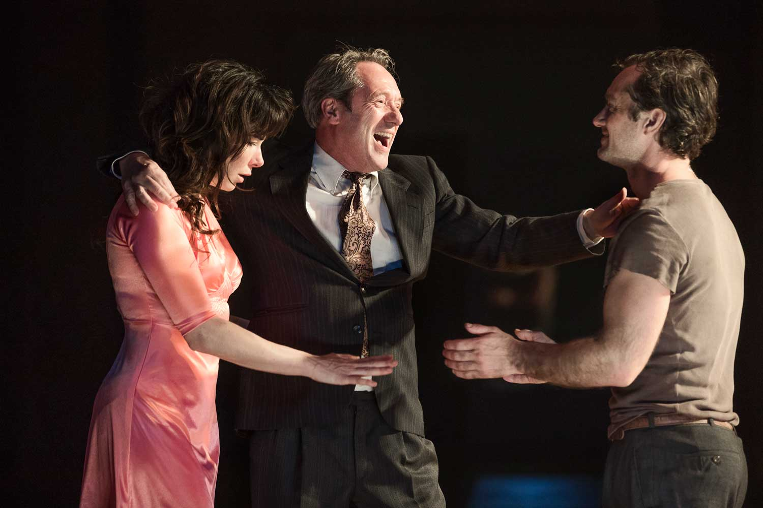 Halina Reijn, Gijs Scholten van Aschat and Jude Law in Obsession. Photo by Jan Versweyveld.