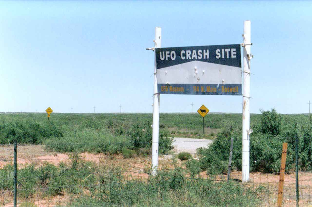 Scene from Roswell, NM crash site in Alien Intrusion: Unmasking a Deception