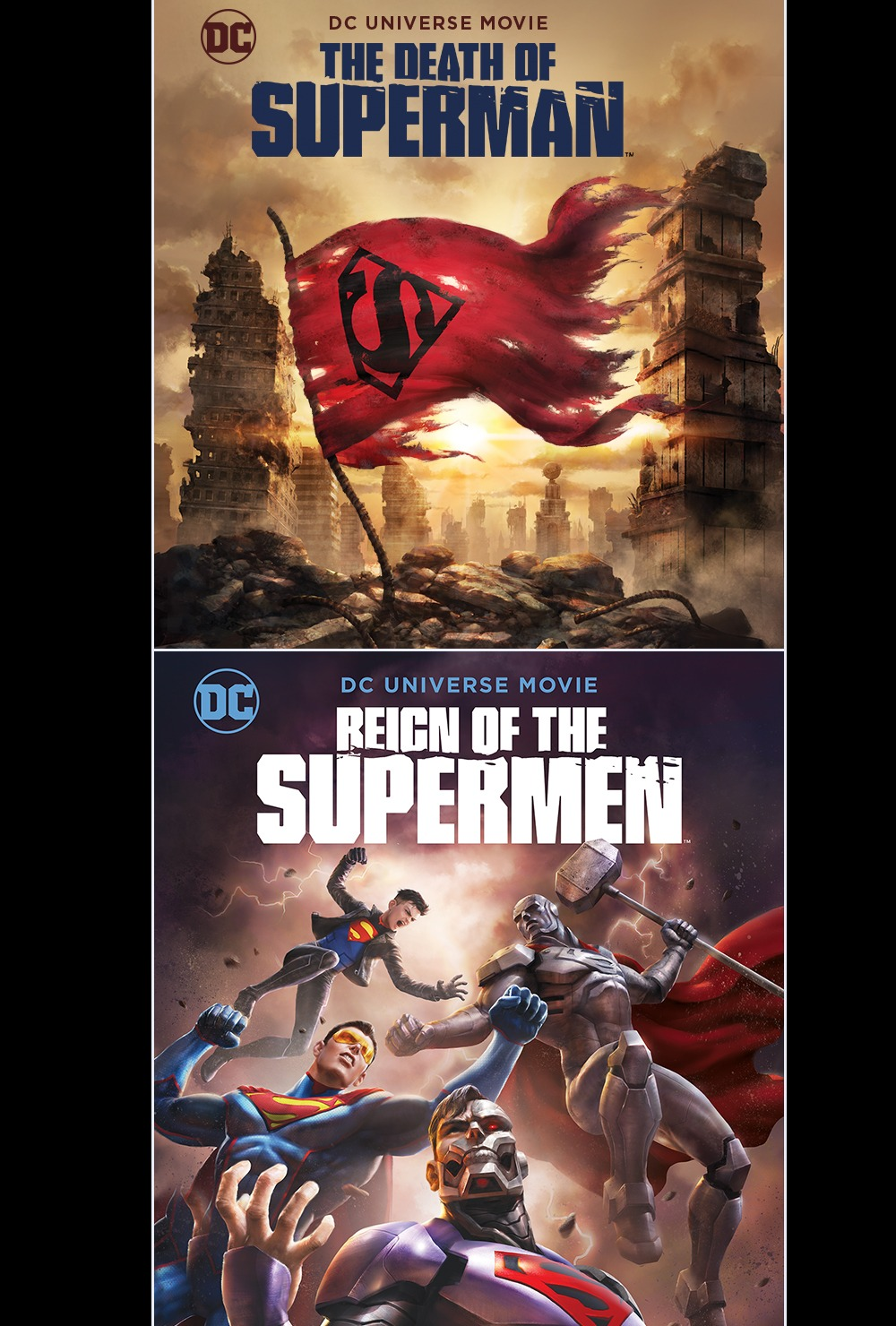 The Death of Superman + Reign of the Supermen Double Feature