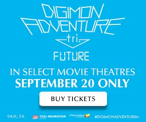 DIGIMON ADVENTURE tri.: Future in cinemas 9/20 only!