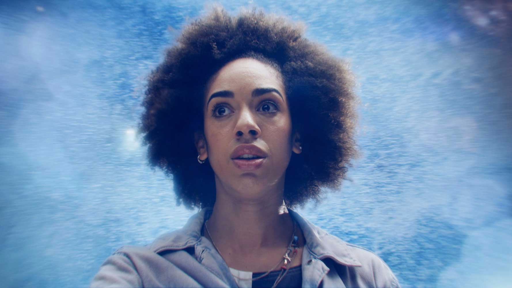 Pearl Mackie as Bill from Doctor Who Season 10, Episode 1