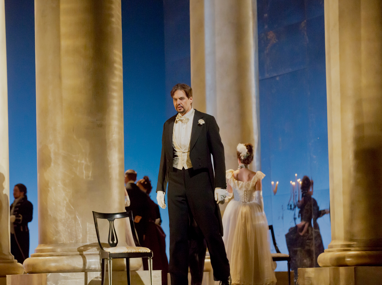 "Peter Mattei as the title character of Tchaikovsky's ""Eugene Onegin."""