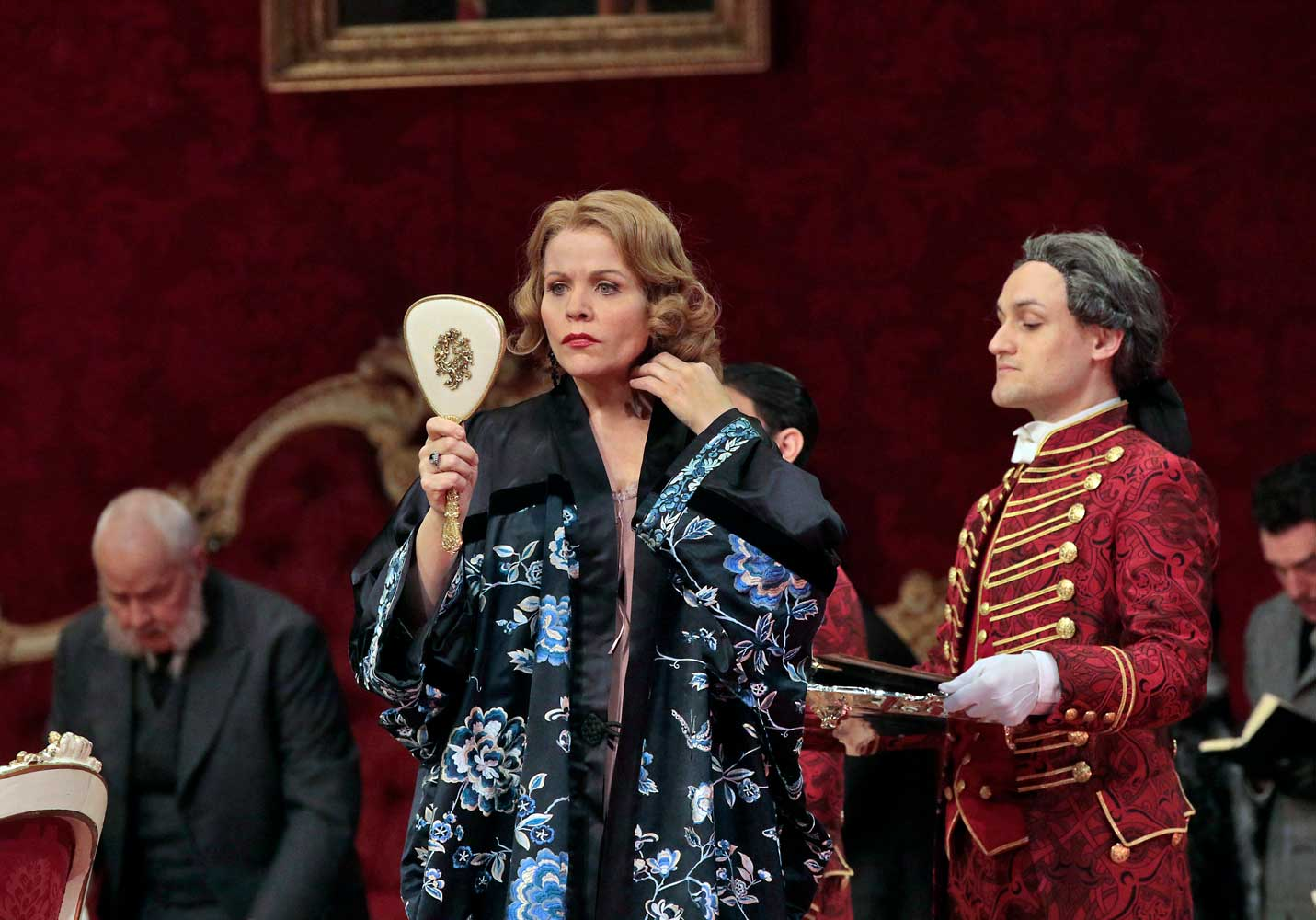 Renée Fleming as the Marschallin in Strauss's Der Rosenkavalier. Photo by Ken Howard/Metropolitan Opera.