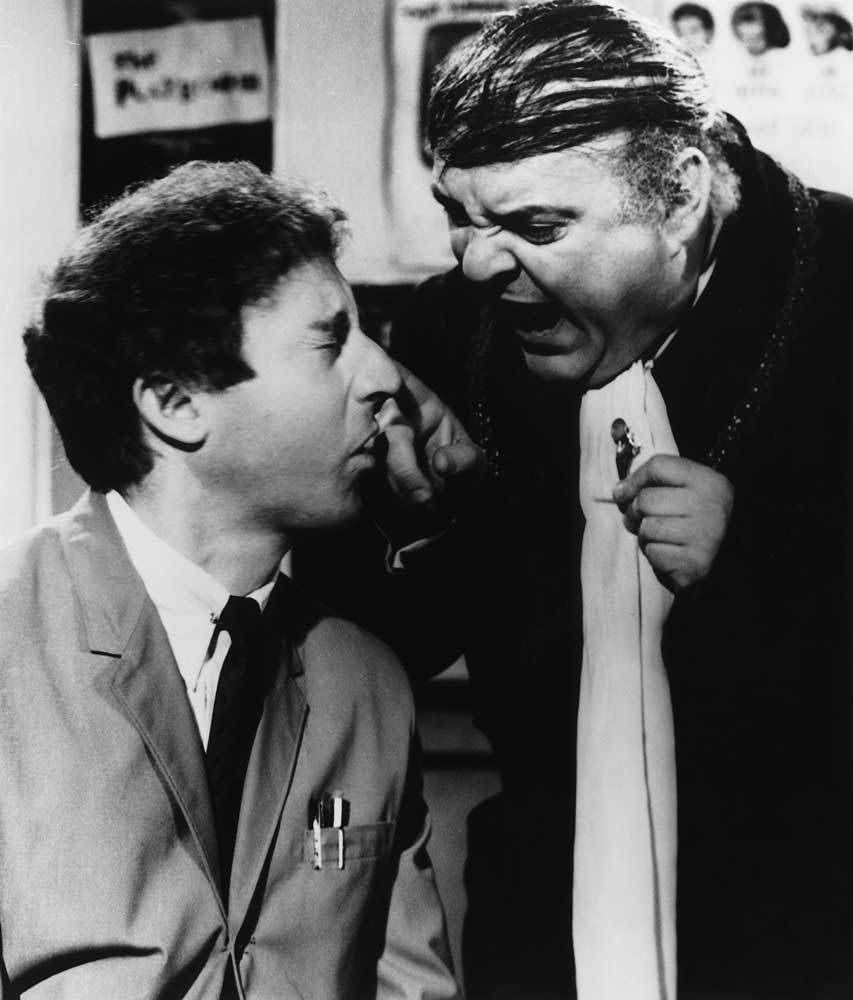 Gene Wilder and Zero Mostel in Mel Brooks' THE PRODUCERS (1968). Courtesy: Rialto Pictures/Studioc