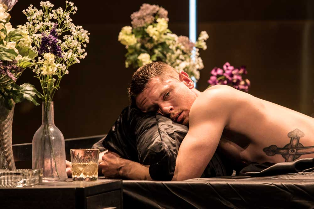 Jack O'Connell (Brick) in Cat on a Hot Tin Roof.