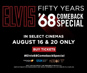 Celebrate the 50th Anniversary of The Elvis '68 Comeback Special in cinemas 8/16 & 20!
