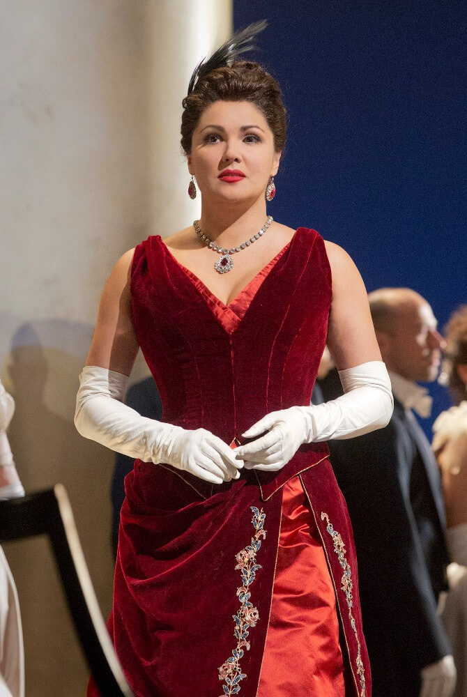 Anna Netrebko as Tatiana in Tchaikovsky's Eugene Onegin.