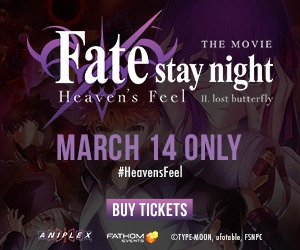 Fate/stay night [Heaven's Feel] II. lost butterfly comes to cinemas 3/14 only!