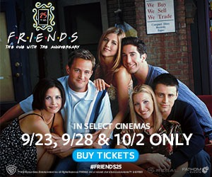 Celebrate the milestone anniversary of Friends in cinemas 9/23, 9/28 & 10/2!