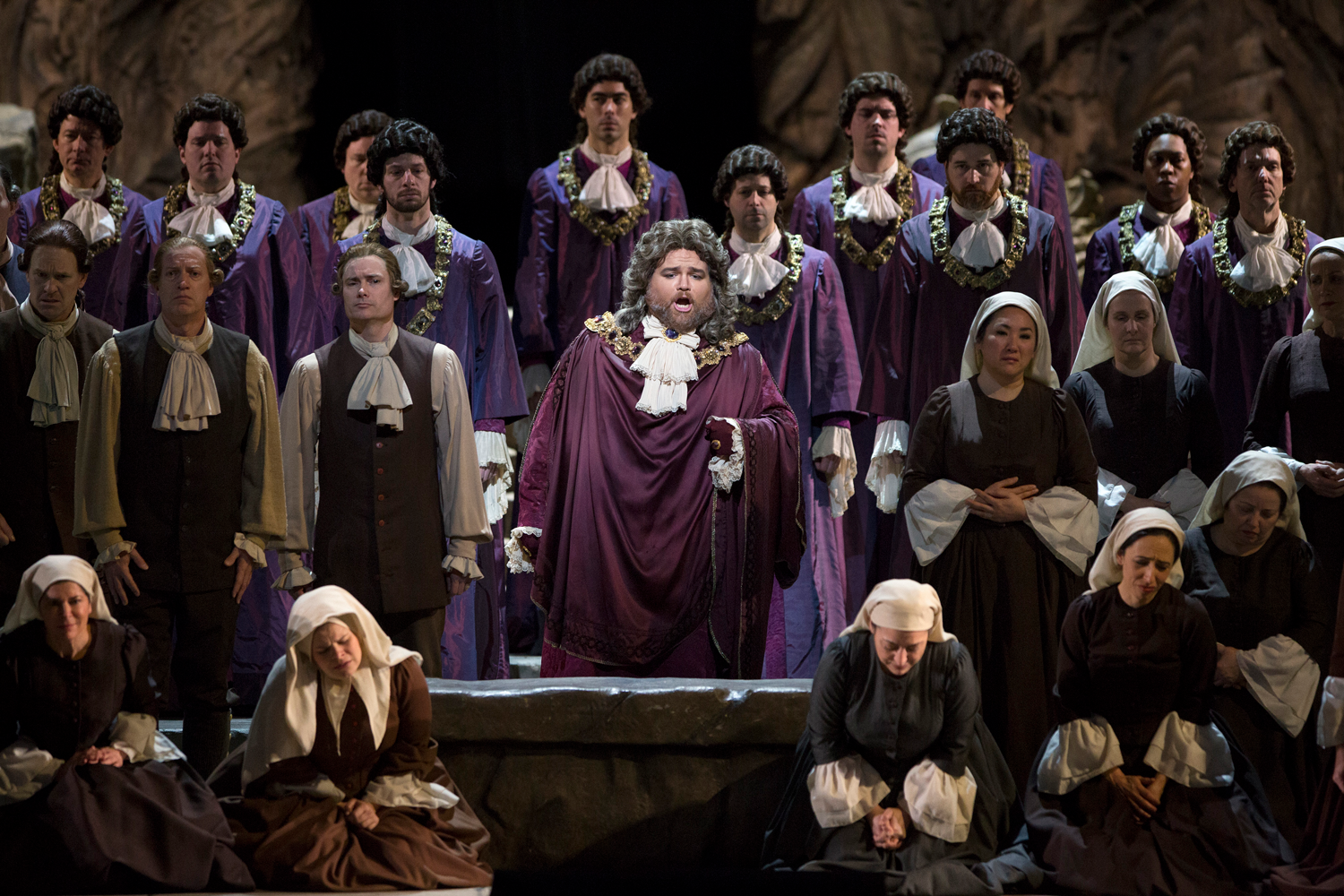 Noah Baetge as the High Priest in Mozart's Idomeneo.