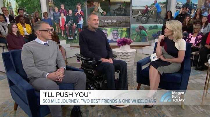 Meet the man who pushed his best friend 500 miles in a wheelchair