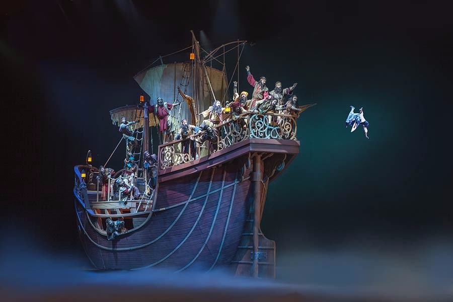 To calm the raging storm, the ship's crew sends Jonah flying overboard in JONAH: On Stage!