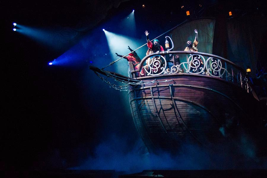 The ship's crew sail into a storm in JONAH: On Stage!