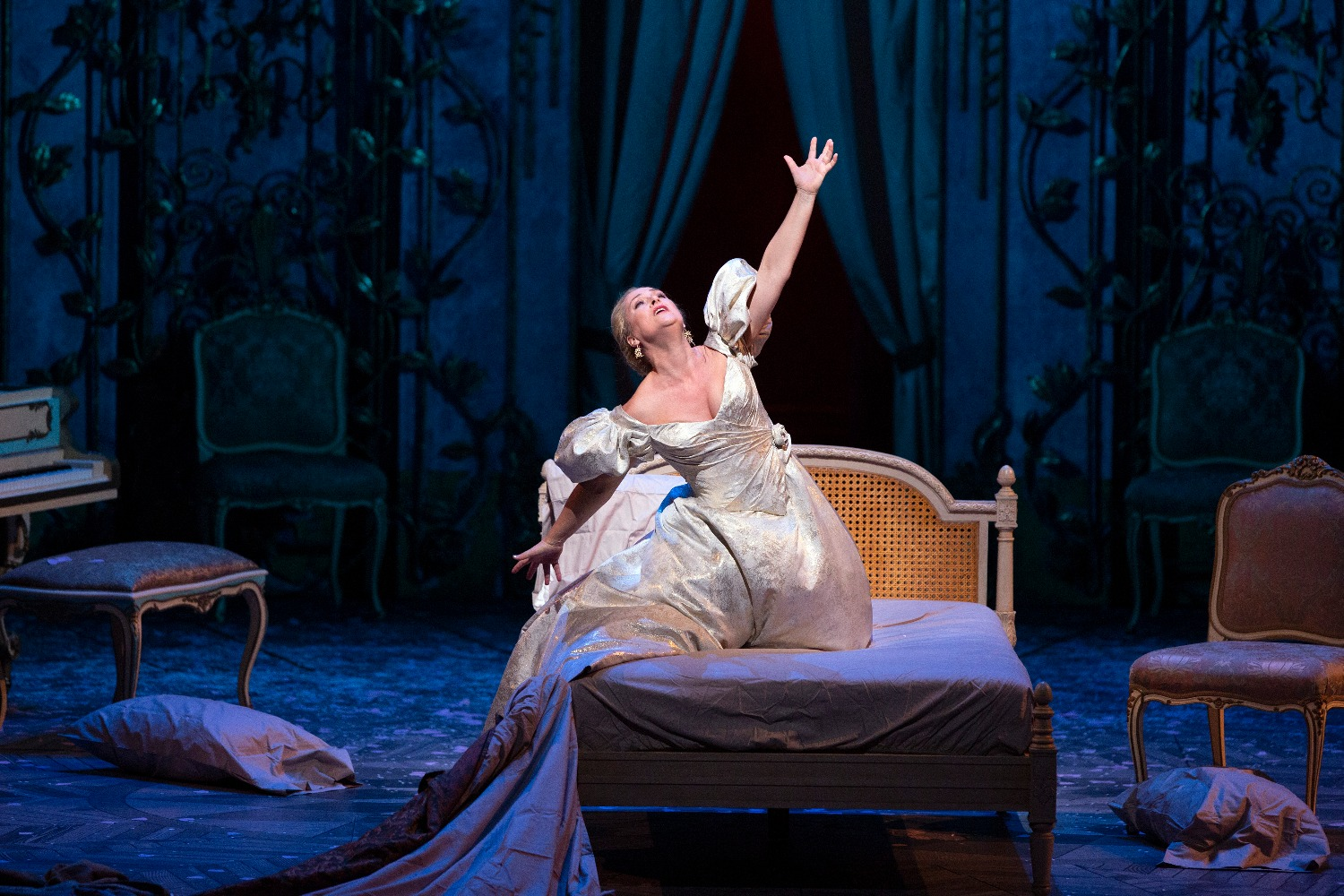 "Diana Damrau as Violetta in Verdi's ""La Traviata."" Photo: Marty Sohl / Met Opera"