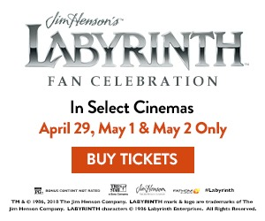 Labyrinth returns to theaters for a three day fan celebration!
