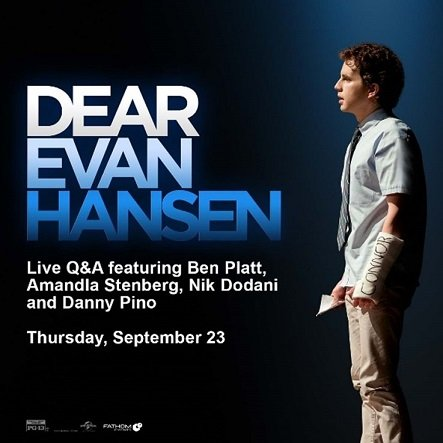 'Dear Evan Hansen' Live Q&A in Cinemas Nationwide on September 23