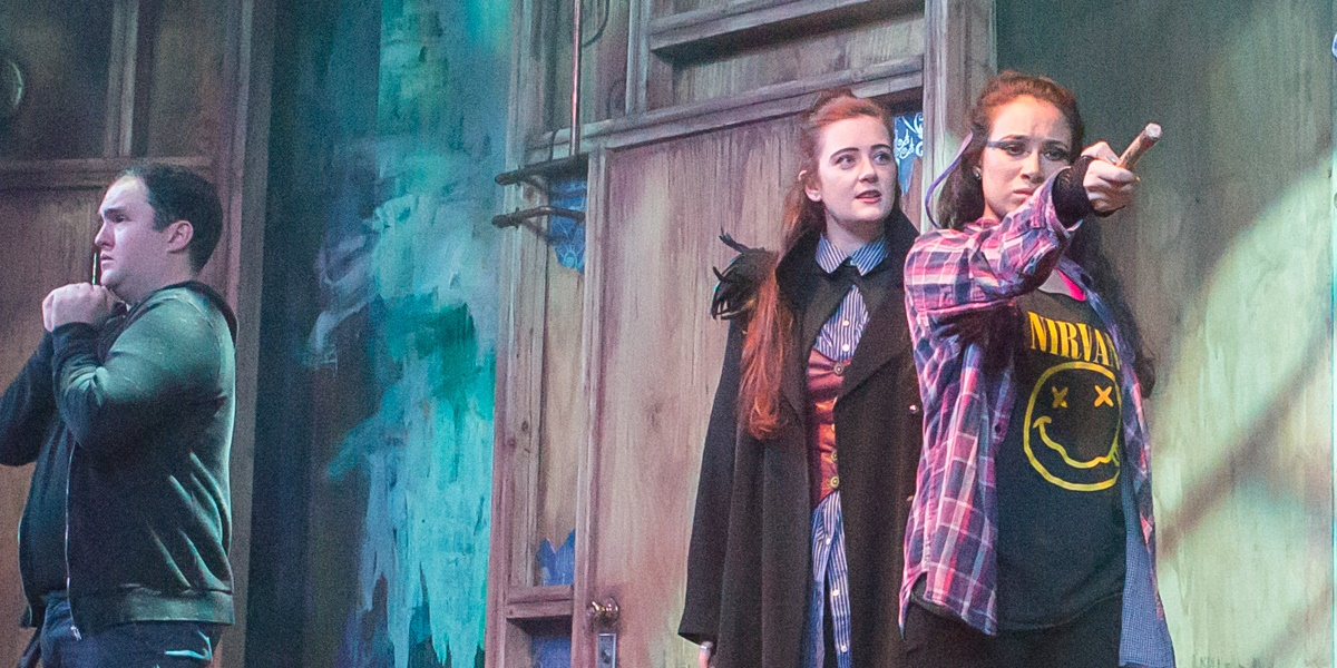 Outgoing 'Puffs' stars Julie Ann Earls, Eleanor Philips discuss their 'Harry Potter' hit