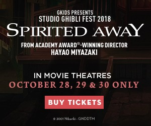 Spirited Away returns to cinemas 10/28, 29, & 30!