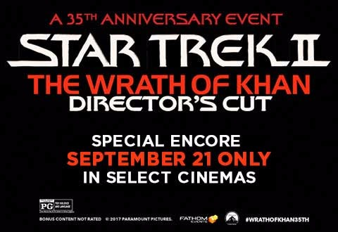 Star Trek II: The Wrath of Khan boldly goes back to the big screen!