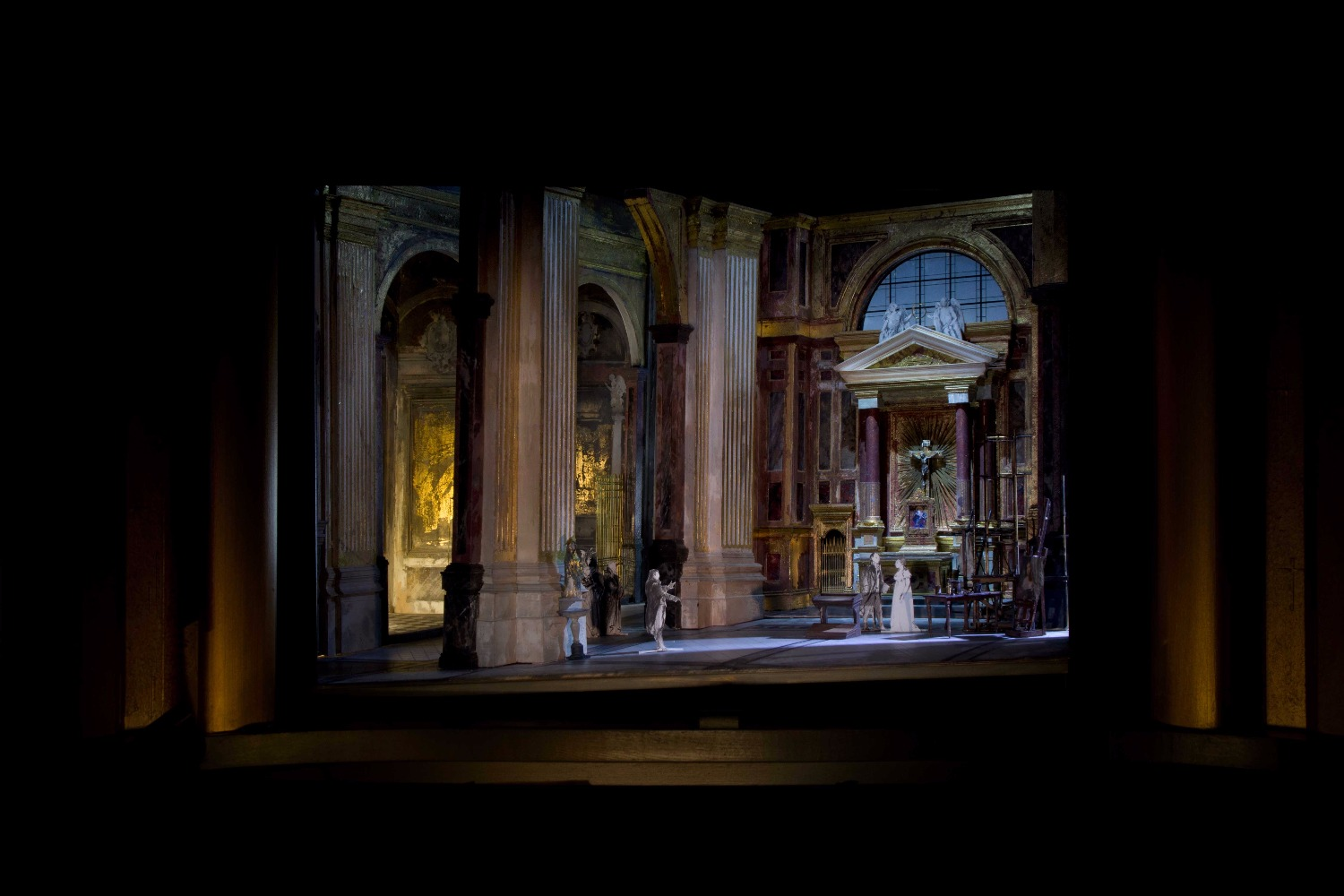 A set model for David McVicar's new production of Tosca. Set designer: John Macfarlane