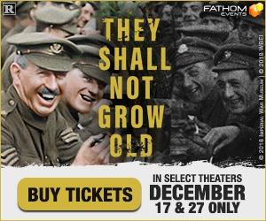 Warner Bros. Presents Peter Jackson's  They Shall Not Grow Old in cinemas 12/1& 27 only!