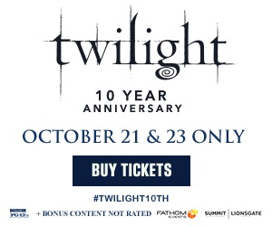 Twilight returns to cinemas for its 10th Anniversary 10/21 & 23!