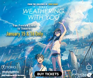 Weathering With You comes to cinemas for a special Fan Preview Screening 1/15 & 16!